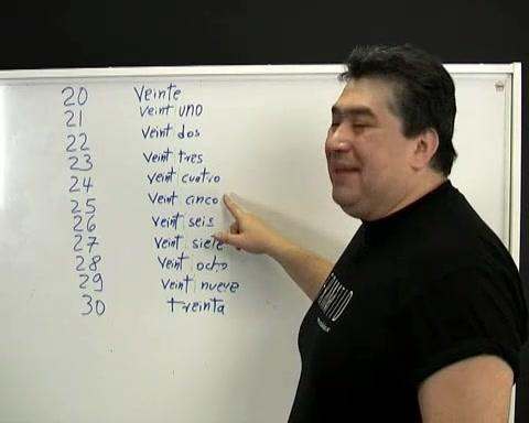 Spanska – Siffrorna 21-30